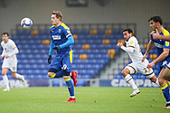 AFC Wimbledon striker Joe Pigott (39) dribbling during the EFL Sky Bet League 1 match between AFC Wimbledon and Milton Keynes Dons at Plough Lane, London, United Kingdom on 30 January 2021.
