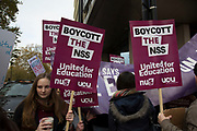 National Union of Students (NUS) and the University and College Union (UCU) demonstration 'United For Education' calling for free, accessible and quality further and higher education across the UK, and to demand an end to the marketisation of university and college education on 19th November 2016 in London, United Kingdom.