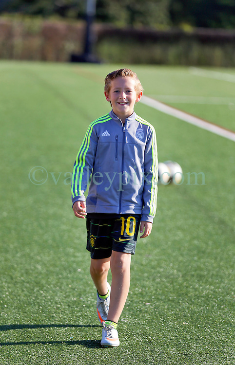 06 May 2016. New Orleans, Louisiana.<br /> New Orleans Jesters. Young Jesters Academy player Ben Varley at the early morning training session for the NPSL team as they prepare for the opening game of the season at Pan American Stadium.<br /> Photo; Charlie Varley/varleypix.com