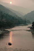 Smokey Saryu River sunset.