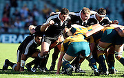 Maori scrum. Australia A v New Zealand Maori during the 2008 IRB Pacific Nations Cup played at the Sydney Football Stadium, Australia on Sunday June 6. Photo: Clay Cross/SPORTSPICS<br /> clayjcross@bigpond.com    +61 413836650