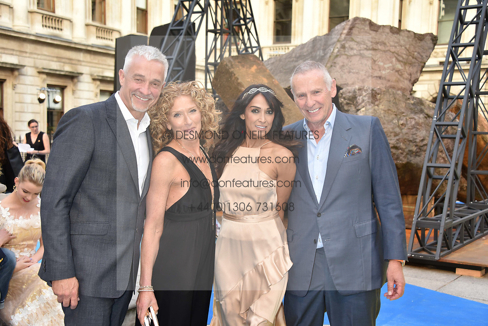 John Gardiner, Kelly Hoppen, Jackie St.Clair and Carl Michaelson at the Royal Academy Of Arts Summer Exhibition Preview Party 2018 held at The Royal Academy, Burlington House, Piccadilly, London, England. 06 June 2018.