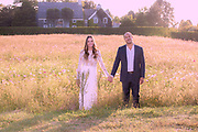 Bride and Groom together in nature