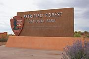 National Park Service Petrified Forest National Park entrance sign