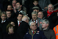 Football - 2016 / 2017 FA Cup - Fourth Round: Southampton vs. Arsenal<br /> <br /> Arsenal Manager Arsene Wenger takes his seat in the directors box as he starts his touchline ban at St Mary's Stadium Southampton England<br /> <br /> COLORSPORTt/SHAUN BOGGUST