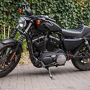 NL/Amsterdam/20200819 -  Podcast en Chill met Najib Amhali, Zwarte Harley Davidson van Najib Amhali