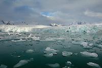 Smeerenburg glacier<br /> Smeerenburg fjord<br /> Svalbard<br /> Norway