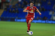 Craig Conway of Blackburn Rovers in action.EFL Skybet championship match, Cardiff city v Blackburn Rovers at the Cardiff city stadium in Cardiff, South Wales on Wednesday 17th August 2016.<br /> pic by Andrew Orchard, Andrew Orchard sports photography.