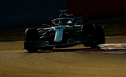 Mercedes' Valtteri Bottas during day four of pre-season testing at the Circuit de Barcelona-Catalunya.
