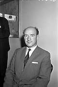 27/07/1962<br /> 07/27/1962<br /> 27 July 1962<br /> Aer Lingus- Irish International Airlines AGM, press conference at General Manager's Office, O'Connell Street, Dublin. Picture shows Mr M.J. Dargon, Assistant General Manager (Commercial) Aer Lingus - Irish International Airlines.
