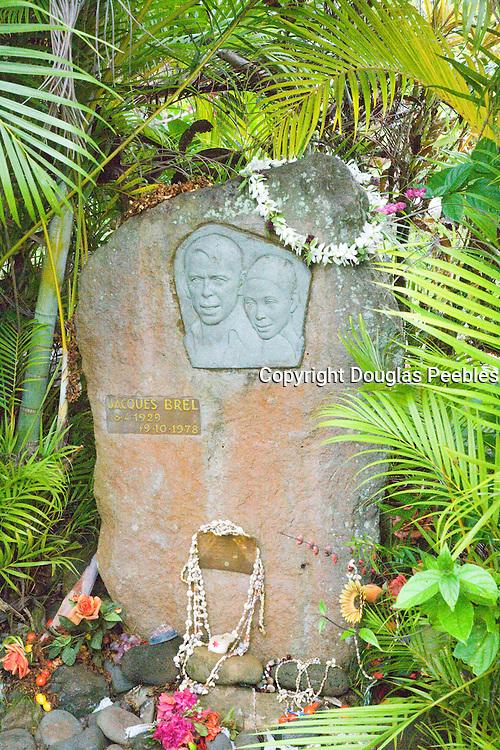 Jacques Brel's grave, Atuona, Hiva Oa, Marquesa Islands, French Polynesia<br />