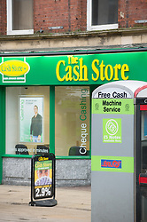 Payday loan company, The Cash Store, in Fitzalan Square, Sheffield