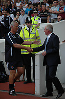 Photo: Tony Oudot. <br /> West Ham United v Manchester City. Barclays Premiership. 11/08/2007. <br /> Sven Goran Eriksson of Manchester City is greeted by Mervyn Day of West Ham in his first premiership game in charge
