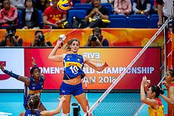 19-10-2018 JPN: Semi Final World Championship Volleyball Women day 18, Yokohama<br /> China - Italy / Cristina Chirichellac #10 of Italy
