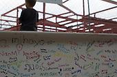Condit Elementary School Beam Signing
