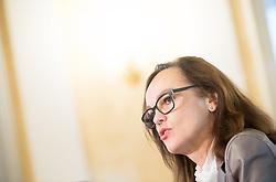 """05.12.2017, Bildungsministerium, Wien, AUT, BMB, Pressekonferenz mit Präsentation der Internationalen Schülerleistungsstudie """"PIRLS 2016"""", im Bild Bundesministerin für Bildung und Frauen Sonja Hammerschmid (SPÖ) // Austrian Minister of education and women Sonja Hammerschmid during press conference of the education ministry due to presentation of Progress in International Reading Literacy Study (PIRLS) in Vienna, Austria on 2017/12/05, EXPA Pictures © 2017, PhotoCredit: EXPA/ Michael Gruber"""