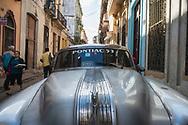 Havana, Cuba - December 13, 2014: A 1953 Pontiac parked on the street in Havana, Cuba