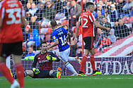 GOAL Matty Done scores a consolation goal 4-1 during the EFL Sky Bet League 1 match between Sunderland and Rochdale at the Stadium Of Light, Sunderland, England on 22 September 2018.