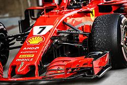 April 15, 2018 - Shanghai, China - 07 RAIKKONEN Kimi (fin), Scuderia Ferrari SF71H, dirty car during 2018 Formula 1 FIA world championship, China Grand Prix, at Shanghai from April 12 to 15  (Credit Image: © Hoch Zwei via ZUMA Wire)
