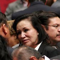 Toluca,  Mex -  Azucena Olivares, alcaldesa de Naucalpan durante la presentacion del Plan de  Desarrollo Estatal 2011-2017 del gobernador Eruviel Avila Villegas.   Agencia MVT / Jose Hernadez