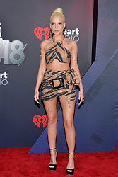 Halsey attends the 2018 iHeartRadio Music Awards at the Forum on March 11, 2018 in Inglewood, California. Photo by Lionel Hahn/AbacaPress.com