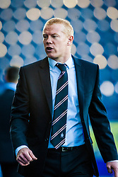 Falkirk's manager Gary Holt.<br /> Falkirk 2 v 1 Queen of the South, Scottish Championship 5/10/2013, played at The Falkirk Stadium.<br /> ©Michael Schofield.