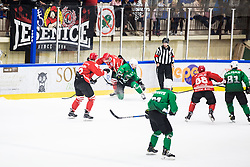 SIMSIC Nik vs URUKALO Luka during the match between HDD Jesenice vs HK SZ Olimpia at 16th International Summer Hockey League Bled 2019 on 24th August 2019. Photo by Peter Podobnik / Sportida