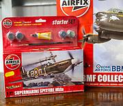 Boxed Airfix model plane starter set on sale at auction Supermarine Spitfire Mk 1a