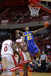 06 December 2008: Demonte Harper gets past Dinma Odiakosa for a lay up during a game where the  Illinois State University Redbirds extended their record to 9-0 with a 76-70 win over the Eagles of Morehead State on Doug Collins Court inside Redbird Arena on the campus of Illinois State University in Normal Illinois