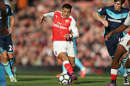 Alexis Sanchez of Arsenal in action. Premier league match, Arsenal v Middlesbrough at the Emirates Stadium in London on Saturday 22nd October 2016.<br /> pic by John Patrick Fletcher, Andrew Orchard sports photography.