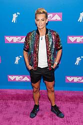 August 21, 2018 - New York City, New York, USA - 8/20/18.Frankie Grande at the 2018 MTV Video Music Awards at Radio City Music Hall in New York City. (Credit Image: © Starmax/Newscom via ZUMA Press)