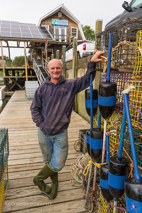 """Jim Merryman, captain of the """"Hunter James"""" and owner of Potts Harbor Lobster in Harpswell, Maine."""