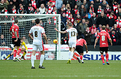 Milton Keynes Dons' Carl Baker Shoots  - Photo mandatory by-line: Joe Meredith/JMP - Mobile: 07966 386802 - 07/02/2015 - SPORT - Football - Milton Keynes - Stadium MK - MK Dons v Bristol City - Sky Bet League One