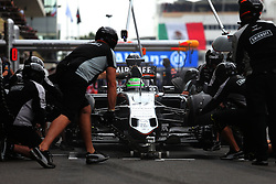 Nico Hulkenberg (GER) Sahara Force India F1 VJM09 practices a pit stop.<br /> 28.10.2016. Formula 1 World Championship, Rd 19, Mexican Grand Prix, Mexico City, Mexico, Practice Day.<br /> Copyright: Moy / XPB Images / action press