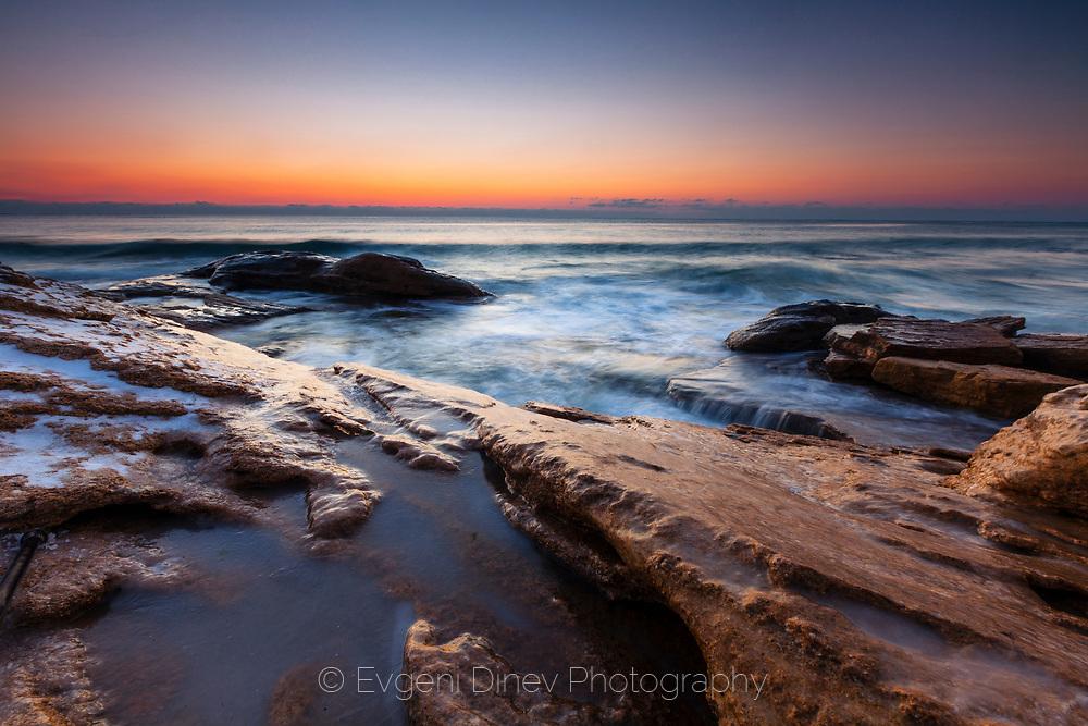 Winter sunrise by Ravda seaside