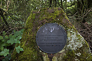 A plaque commemorating the opening in 1978 of Calvert Jubilee Nature Reserve is seen on 27 July 2020 in Calvert, United Kingdom. On 22nd July, the Berks, Bucks and Oxon Wildlife Trust BBOWT reported that it had been informed of HS2's intention to take possession of part of Calvert Jubilee nature reserve, which is home to bittern, breeding tern and some of the UK's rarest butterflies, on 28th July to undertake unspecified clearance works in connection with the high-speed rail link.