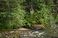Hand operated cable car crossing of the Chilliwack River, North Cascades National Park