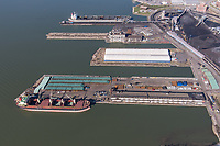 Port of Baltimore aerial image of Canton Pier 11 by Jeffrey Sauers of Commercial Photographics, Architectural Photo Artistry in Washington DC, Virginia to Florida and PA to New England