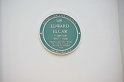 Edward Elgar Plaque at Abbey Road Studios at an exclusive showing of the Ralph Lauren Collection Spring 2014 Runway Collection held at the legendary Abbey Road Studios, Abbey Road, London NW8 on 21st May 2014.
