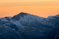 Twilight over the Coast Mountains of British Columbia Canada