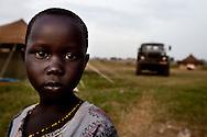 A child at the Juba barracks.