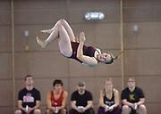 Ketchikan High School diver Emily Bolling competes in the women's 1 meter diving on Saturday, Oct. 5, 2019 during the Ketchikan Invitational swim meet at Geteway Aquatic Center in Ketchikan, Alaska.