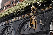Exterior signage at Berry Bros & Rudd wine merchant on the 26th September 2019 in London in the United Kingdom. Berry Bros. & Rudd is a family-run British wine and spirits merchant founded in London in 1698.