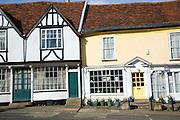 Georgian shop fronts on Market Hill, Woodbridge, Suffolk