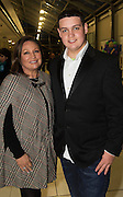 Norah Casey  and her son Darragh at the annual SCCUL Enterprise Awards prize giving ceremony and business expo which was hosted by NUI Galway in the Bailey Allen Hall, NUIG. Photo:Andrew Downes