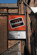Exterior of the Moth Club building with a Carling Black Label larger sign on the 20th September 2019 in London in the United Kingdom.
