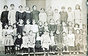 all girls school group portrait 1910s France