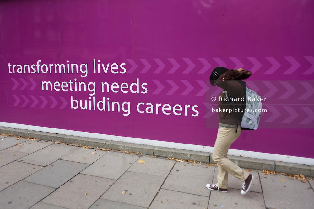 Education slogan for London Metropolitan University's Holloway Road campus.