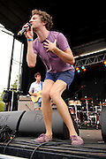 !!! performing at the LouFest Music Festival in St. Louis on August 28, 2011.