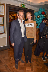 Alexander & Hannah Armstrong at the launch of the Fortnum & Mason Christmas & Other Winter Feasts Cook Book by Tom Parker Bowles held at Fortnum & Mason, 181 Piccadilly, London, England. 17 October 2018.